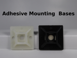 Adhesive backed mounting bases
