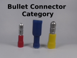 Female and Male Bullet Connectors